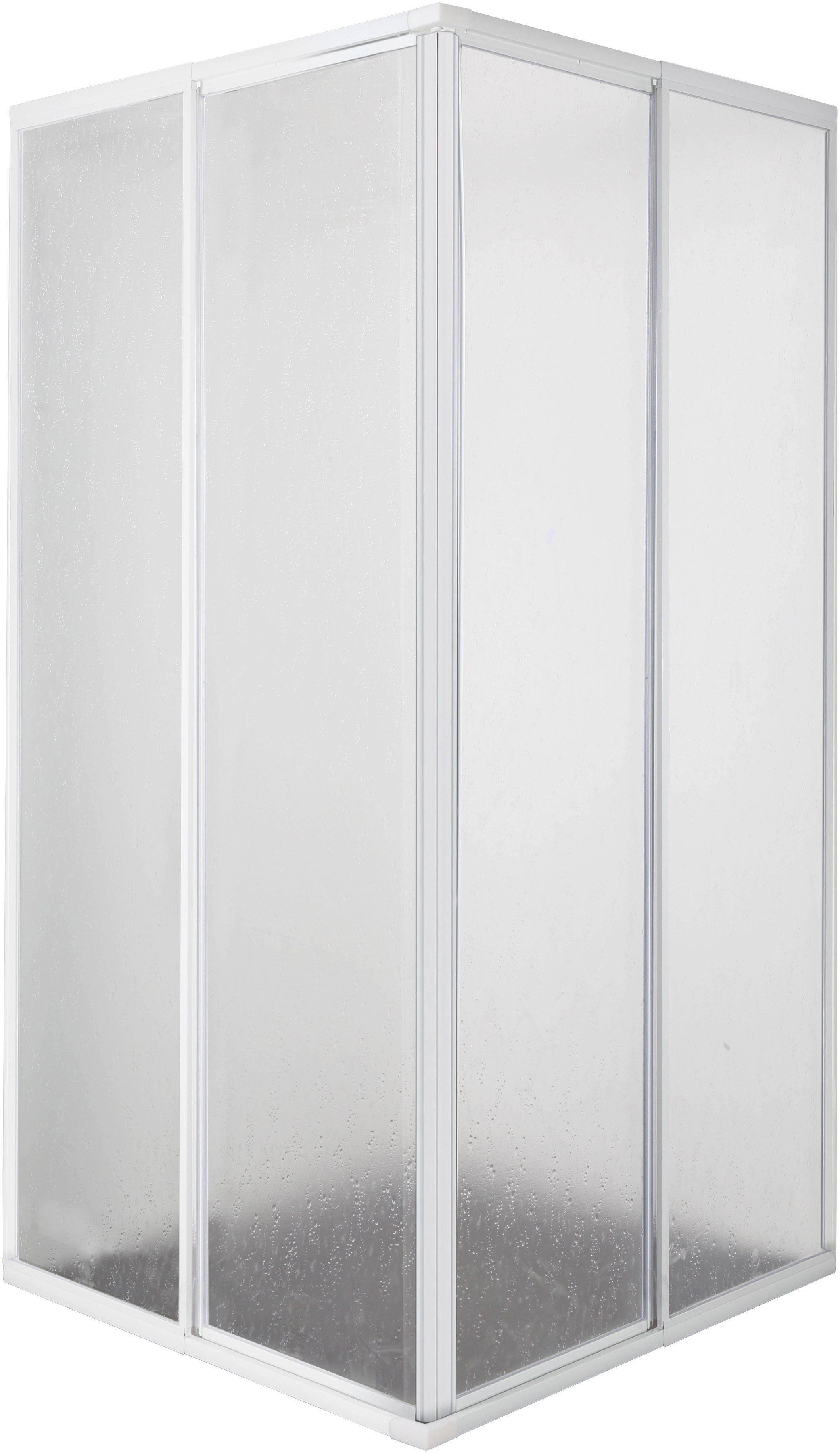 Eckdusche , Schiebetüren, Verstellbereich 73 - 88cm