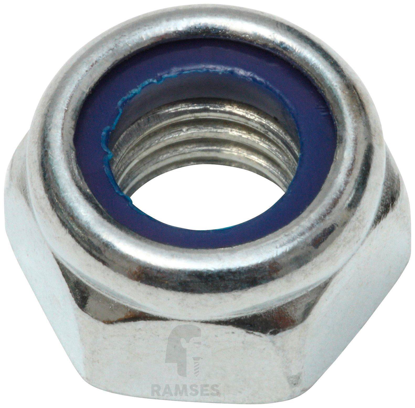 RAMSES Sicherungsmutter , (Kunststoffring) DIN 985 M20, 25 Stück