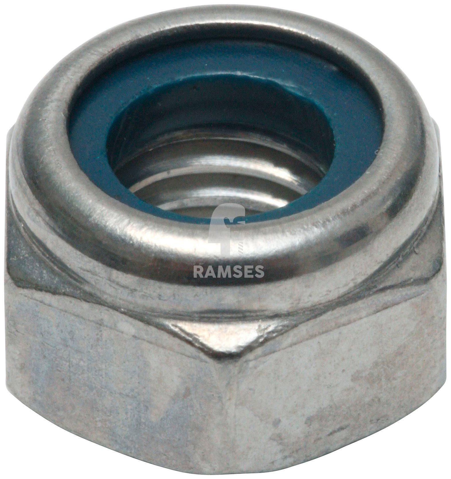RAMSES Sicherungsmutter , (Kunststoffring) DIN 985 M12, 50 Stück