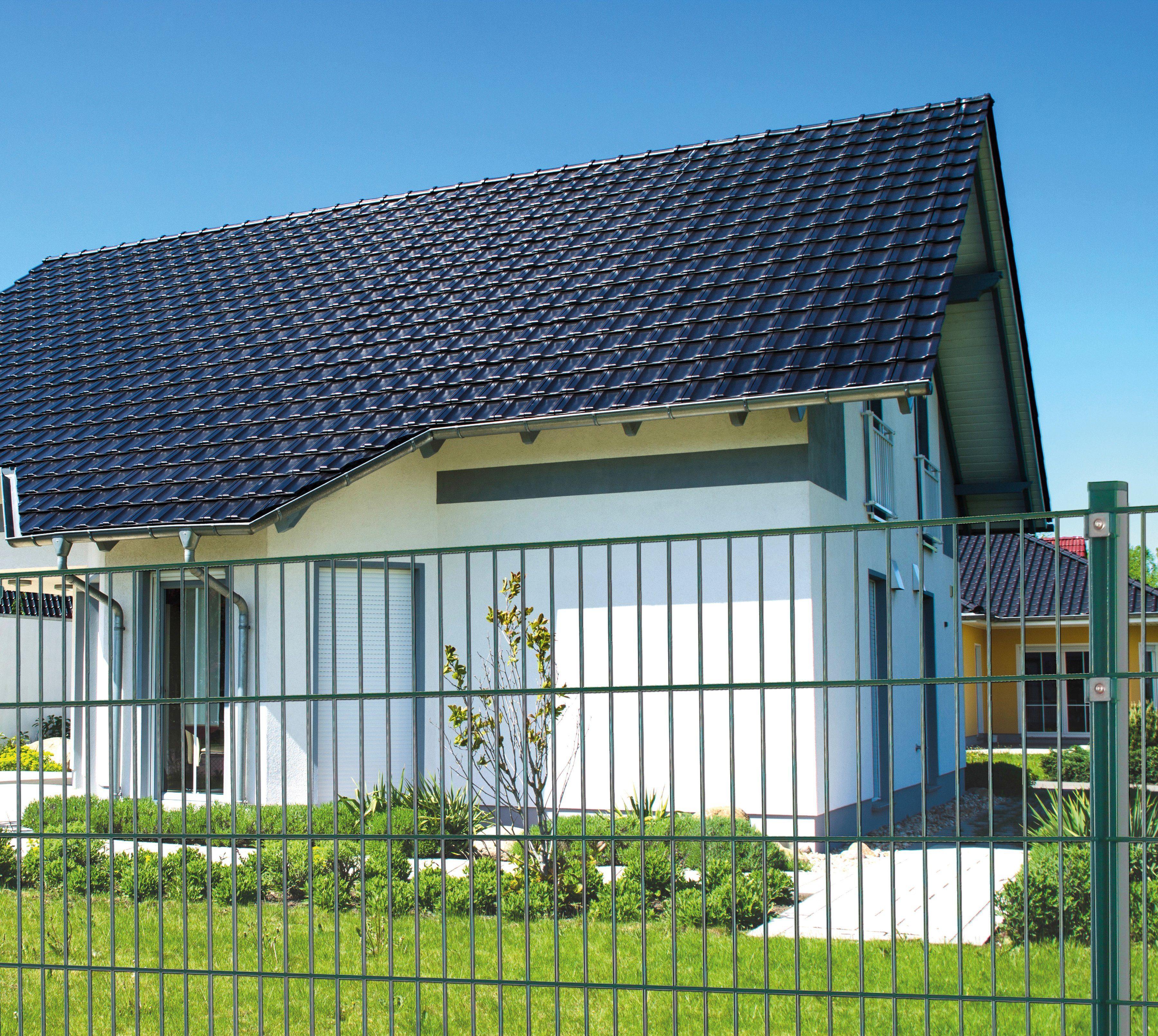 PEDDY SHIELD Einstabmattenzaun , Anbauset, BxH: 2x1 m, grün