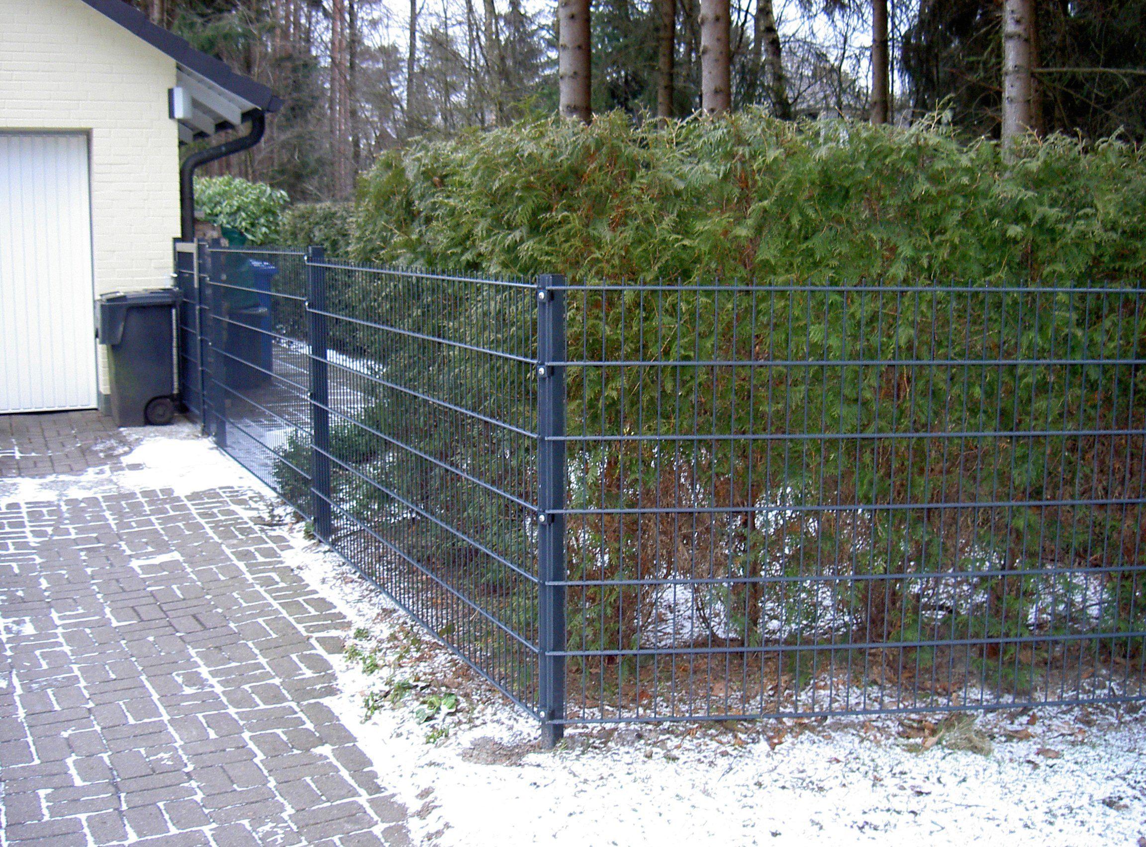PEDDY SHIELD Einstabmattenzaun 125 cm hoch, 5 Matten für 10 m Zaun, mit 6 Pfosten
