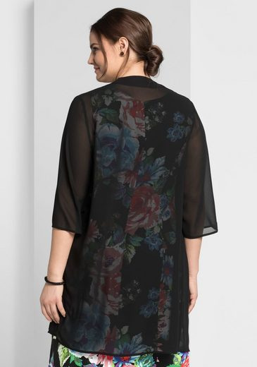 sheego Style Longbluse, leicht transparent