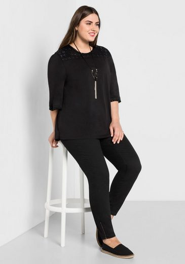 sheego Casual 3/4-Arm-Shirt