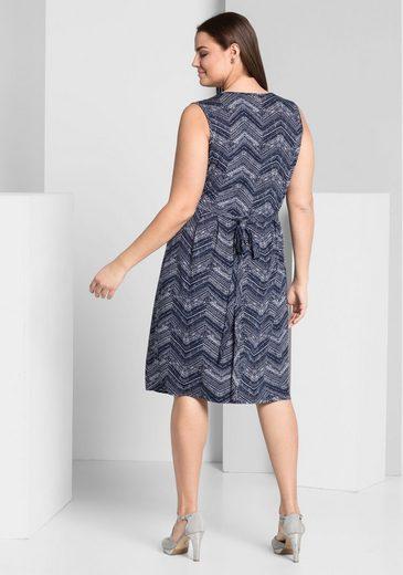 sheego Style Jerseykleid, in Wickeloptik