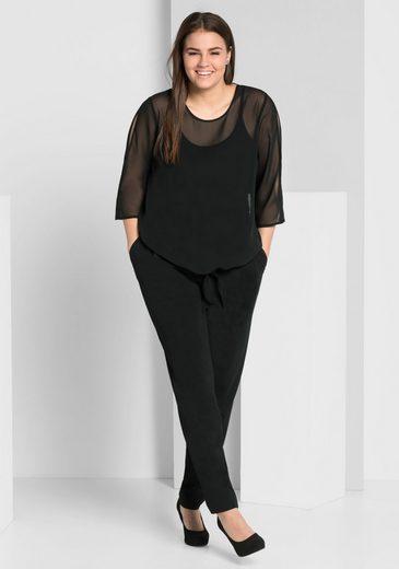 sheego Style Schlupfhose, aus knitterfreiem Crêpe-Jersey
