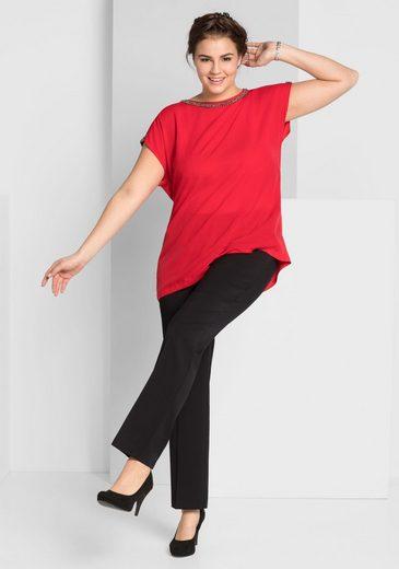 Schultern Style Blusenshirt Sheego Transparenten Leicht Mit vzaUfXq