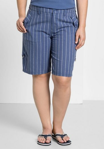 Sheego Casual Bermudas With Krempel Function