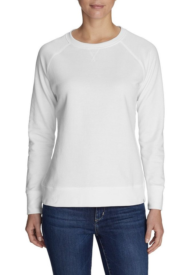 Damen Eddie Bauer  Sweatshirt Camp Fleece Sweatshirt weiß | 04057682244402