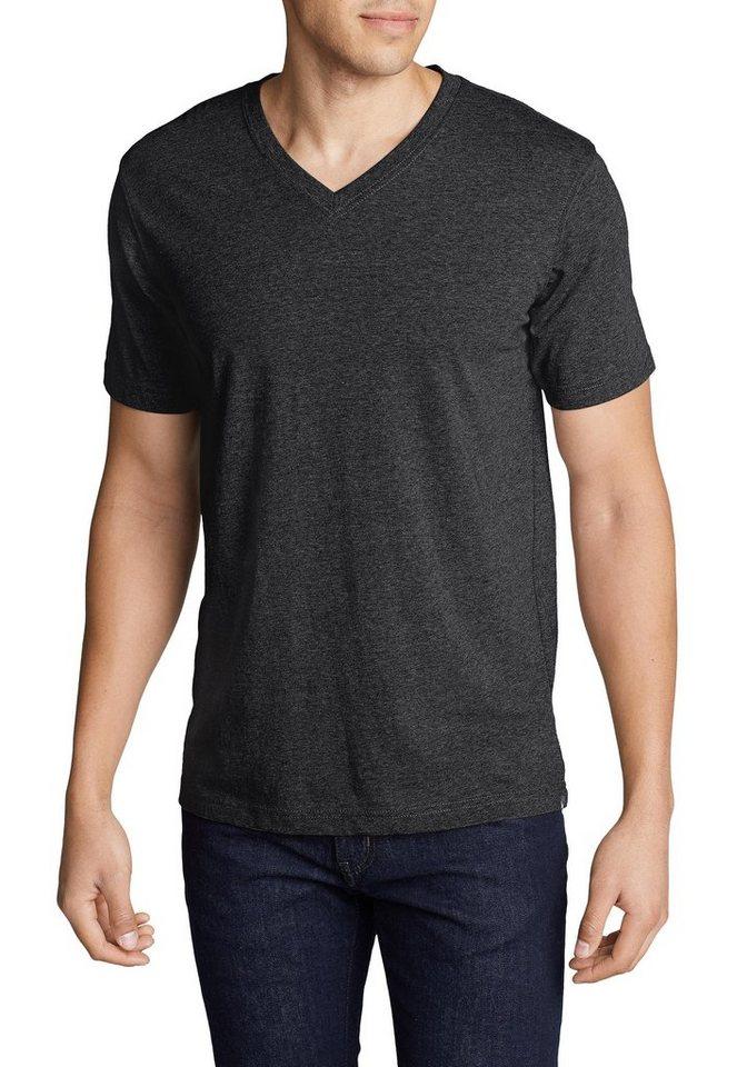 eddie bauer -  T-Shirt Legend Wash Kurzarm-Shirt mit V-Ausschnitt