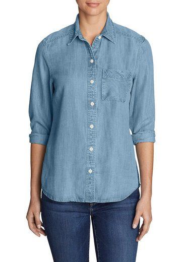 Eddie Bauer Tencel® Blouse In Jeans-optic