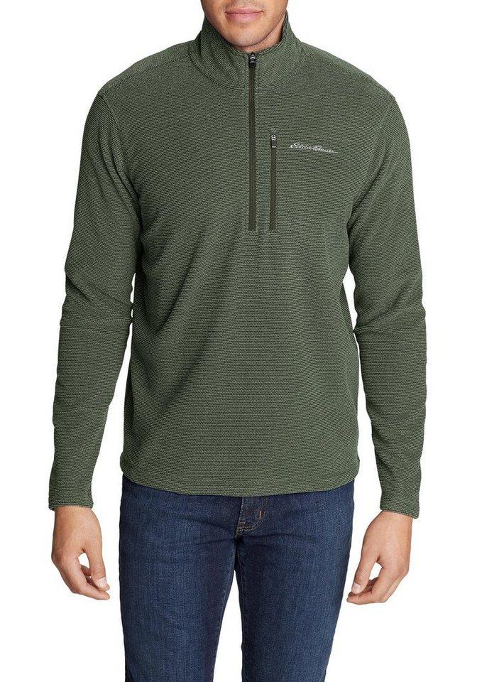 Eddie Bauer Fleecepullover Quest Fleece mit 1/4-Reissverschluss - strukturiert | Sportbekleidung > Fleecepullover | Grün | Polyester | Eddie Bauer