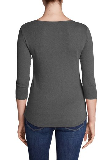 Eddie Bauer Favorite Shirt - 3/4-Arm mit Y-Ausschnitt - uni