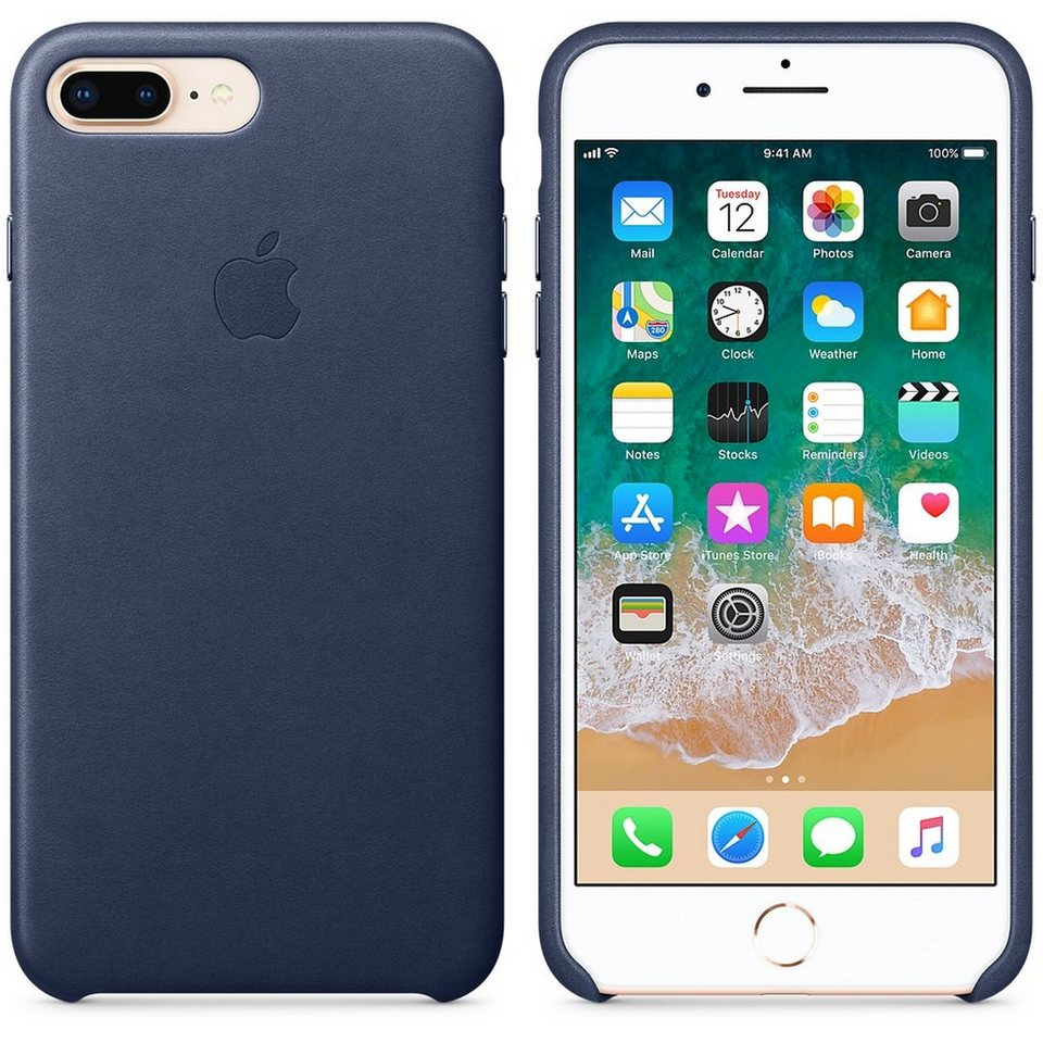 apple iphone 8 plus 7 plus leder case hintere abdeckung. Black Bedroom Furniture Sets. Home Design Ideas