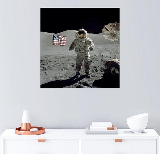 Posterlounge Wandbild - Stocktrek Images »Astronaut auf dem Mond«
