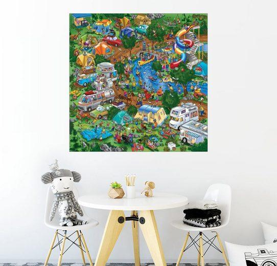 Posterlounge Wandbild - Steve Skelton »Auf dem Campingplatz«