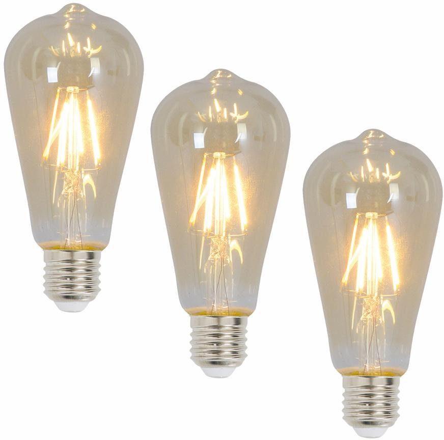 Näve LED Leuchtmittel, 3er Set, »E27 Filament«
