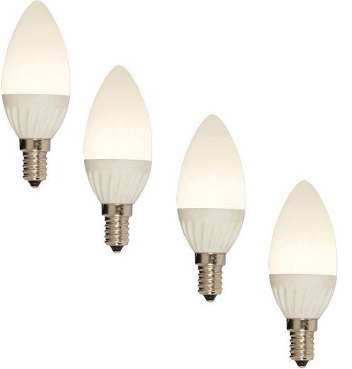 näve »LED Leuchtmittel E14 Kerze« LED-Leuchtmittel, E14, 4 Stück, Warmweiß, Set - 4 Stück