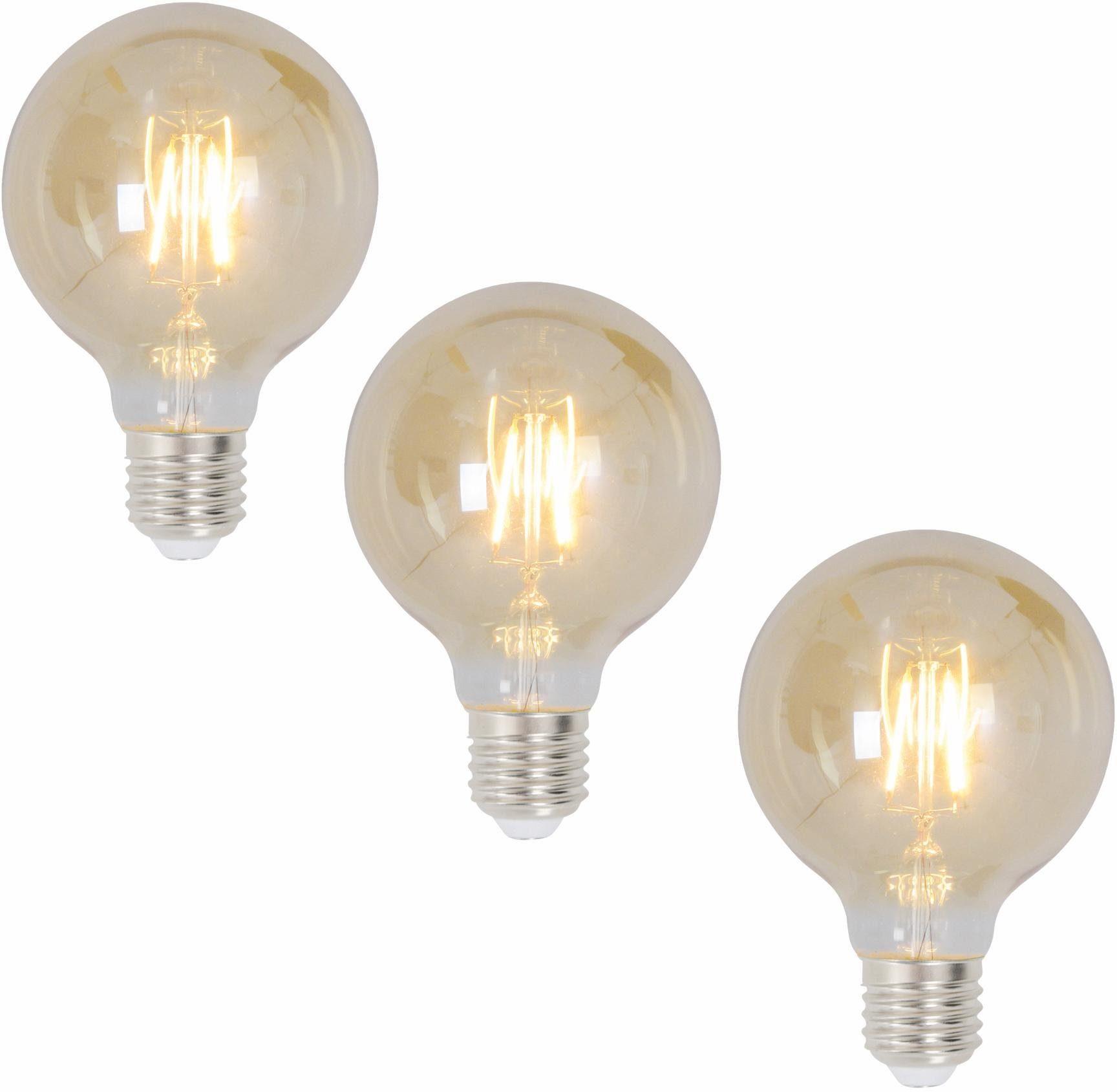 näve »E27 Filament« LED-Leuchtmittel, E27, 3 Stück, Warmweiß