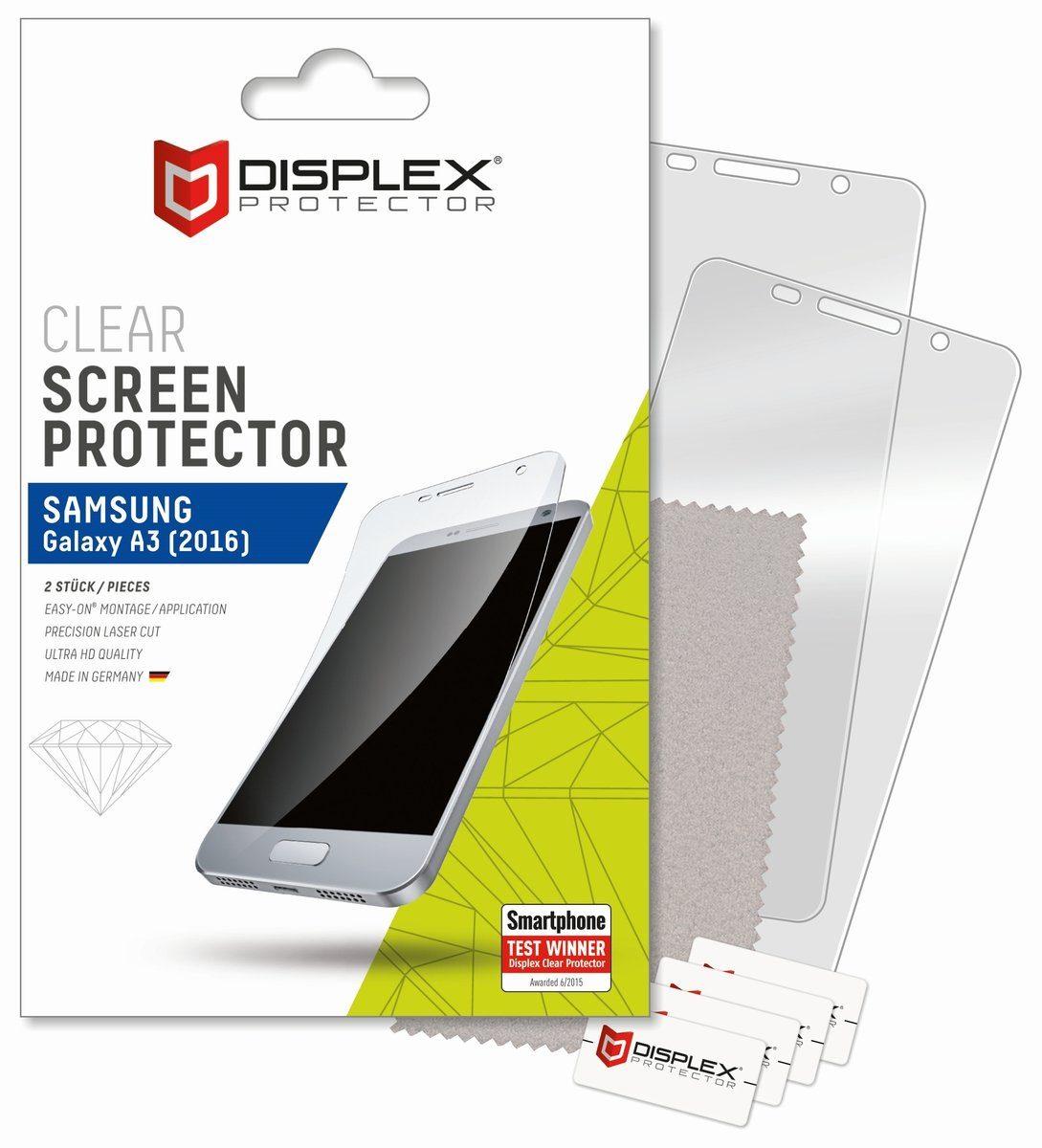 Displex Folie »Displayschutzfolie (2 Stk.) für Galaxy A3 (2016)«