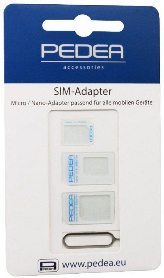 PEDEA Zubehör »Micro und Nano-SIM Adapter Kit (3-er Pack)«