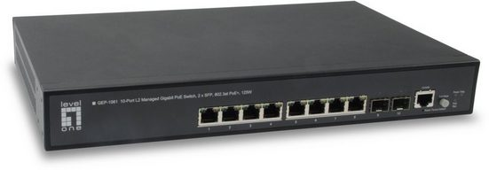 Levelone Switch »GEP-1061 10-Port-L2-Managed-Gigabit-PoE-Switch«