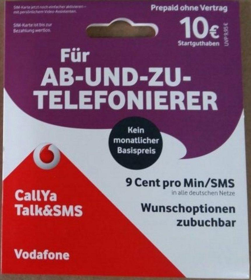 vodafone callya prepaid karte talk sms mit 10 euro startguthaben. Black Bedroom Furniture Sets. Home Design Ideas