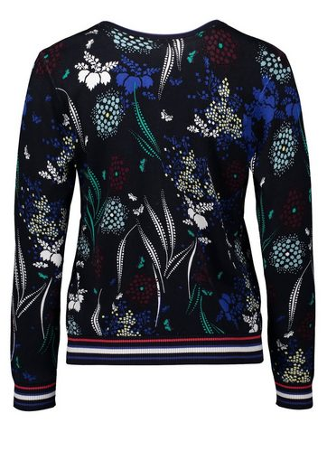 Betty Barclay Sweater With A Floral Pattern Allover