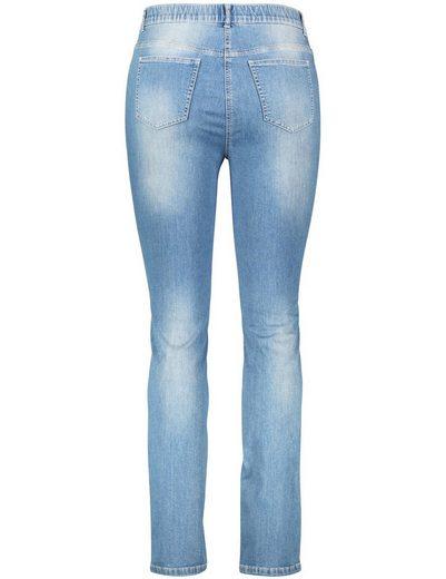 Samoon Hose Jeans verkürzt Stretch-Jeans mit Fade-Effekt, Betty Jeans