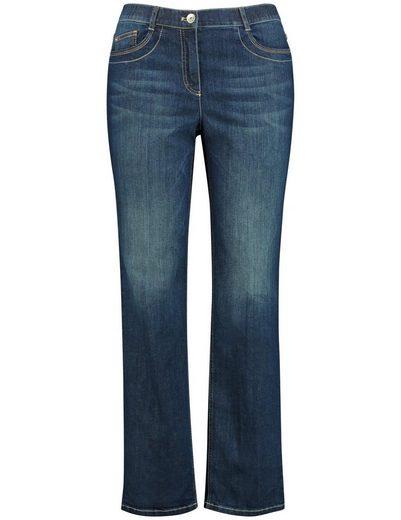 Samoon Hose Freizeit lang Jeans mit komfortablem Bein, Jenny