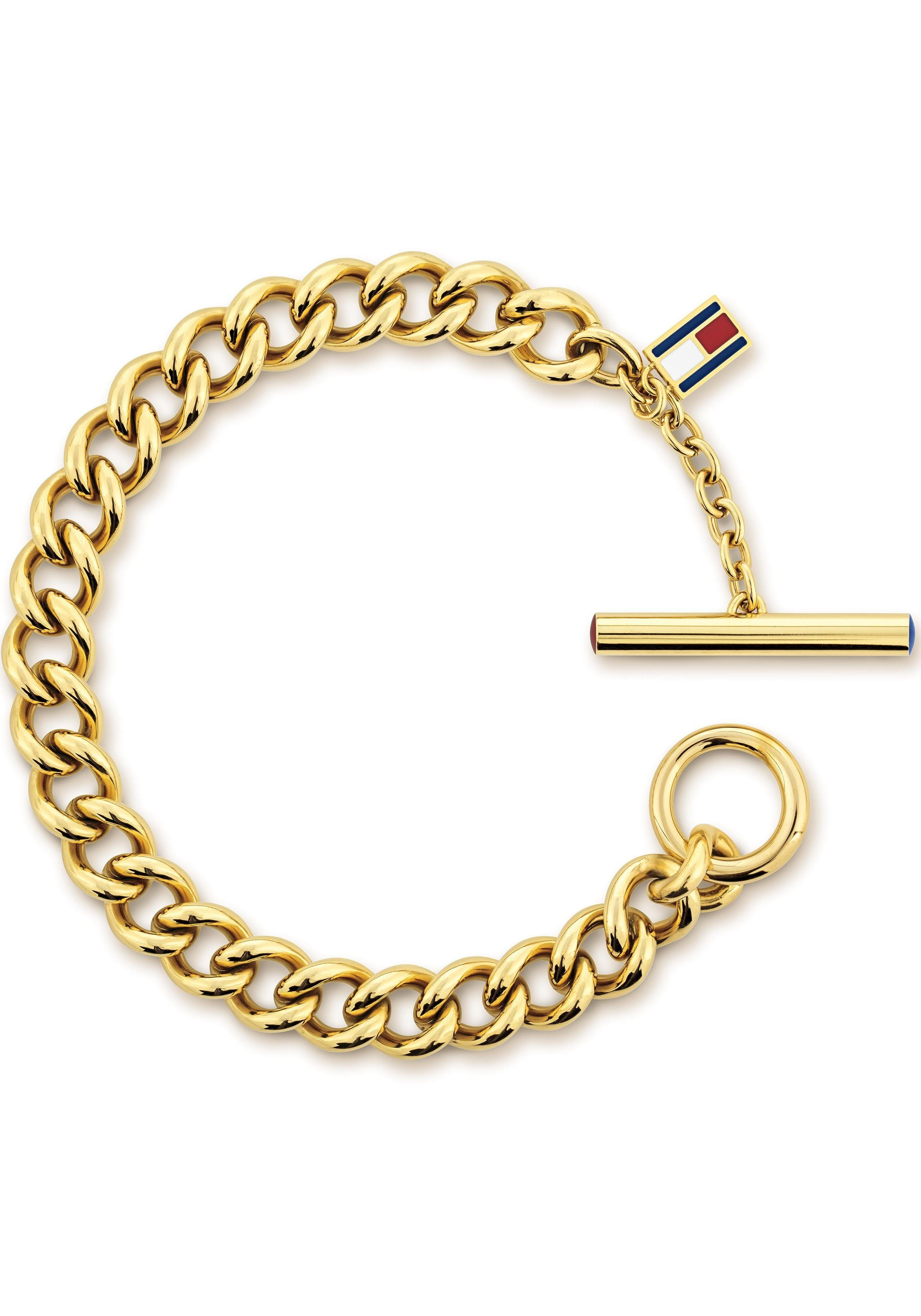 TOMMY HILFIGER Edelstahlarmband »CLASSIC SIGNATURE, 2701051« mit Emaille