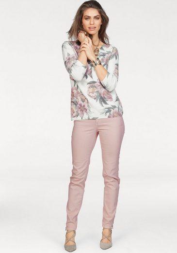 Laura Scott V-Ausschnitt-Pullover, mit Blumenprint