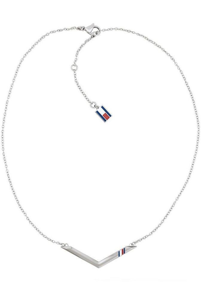 TOMMY HILFIGER Edelstahlkette »CLASSIC SIGNATURE, 2701078« mit Emaille | Schmuck > Halsketten > Edelstahlketten | TOMMY HILFIGER