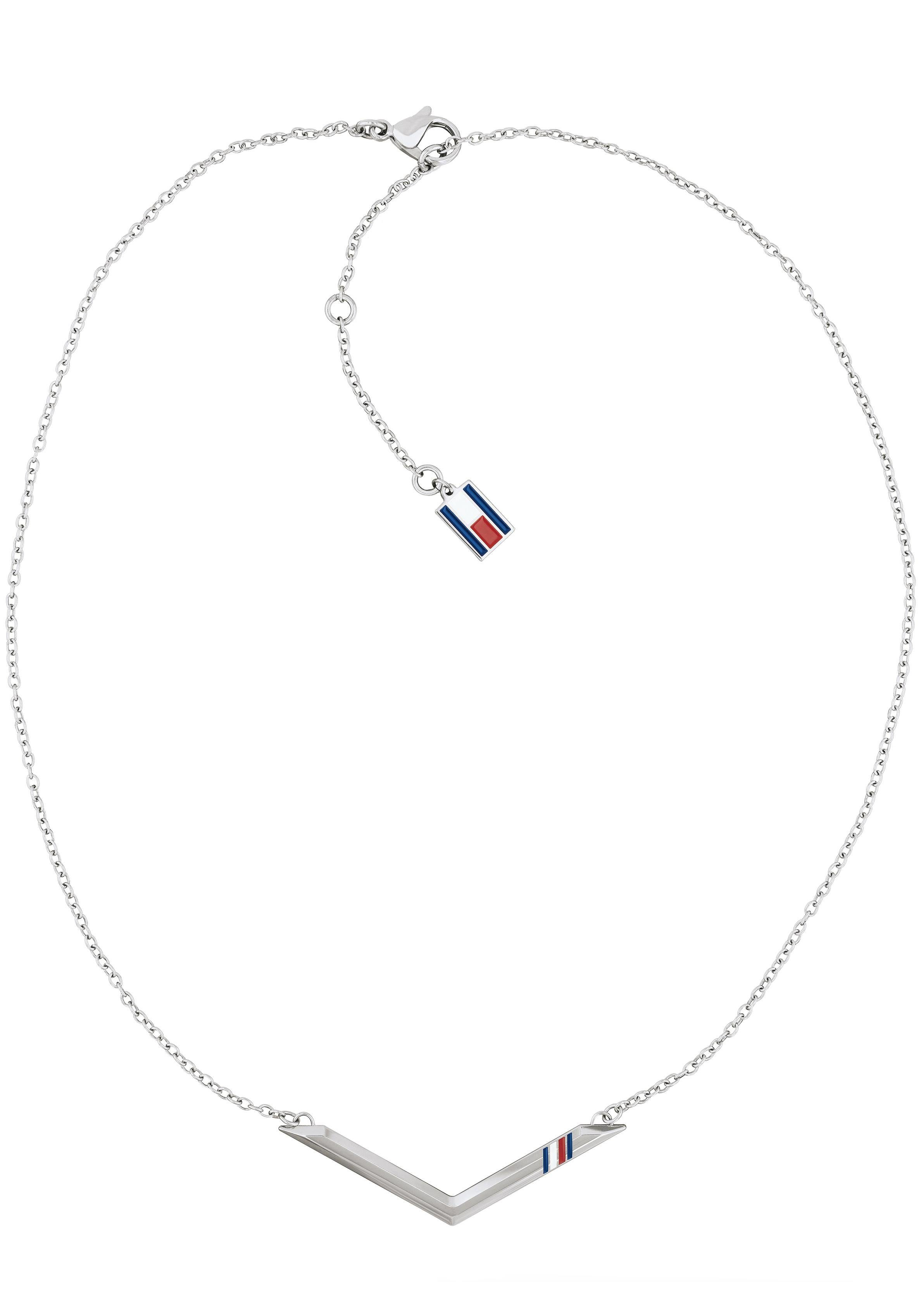 TOMMY HILFIGER Edelstahlkette »CLASSIC SIGNATURE, 2701078« mit Emaille
