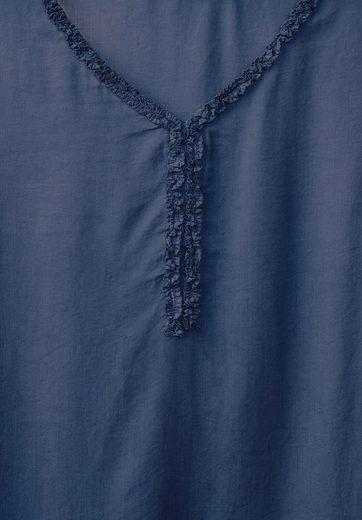 CECIL Bluse mit Rüschenkragen
