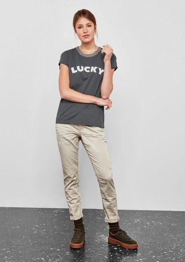 Q/S designed by T-Shirt mit Glitzer-Effekten