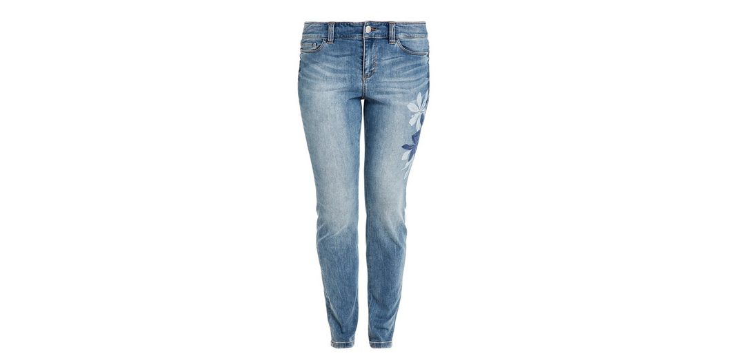 Bestickte Curvy Extra Slim Denim Triangle qazP1
