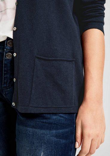 TRIANGLE Strickjacke mit aufgesetzten Taschen