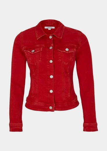 COMMA Coloured-Denim Jeansjacke mit raffinierten Details