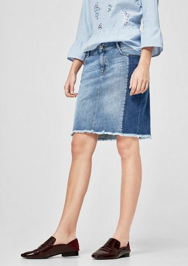 s.Oliver RED LABEL Jeans-Mini mit Bodycon-Effekt