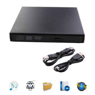 Favson »Externes DVD Laufwerk, USB 2.0 CD/DVD Player DVD-ROM Brenner Externe Kompatibel Tragbar Slim für Laptops, Desktops und Notebooks« DVD-Player