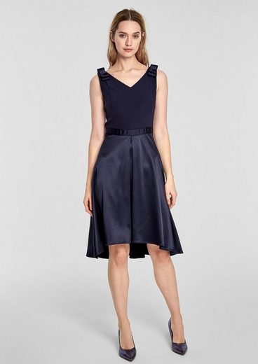 s.Oliver BLACK LABEL Cocktailkleid im Fabric-Mix