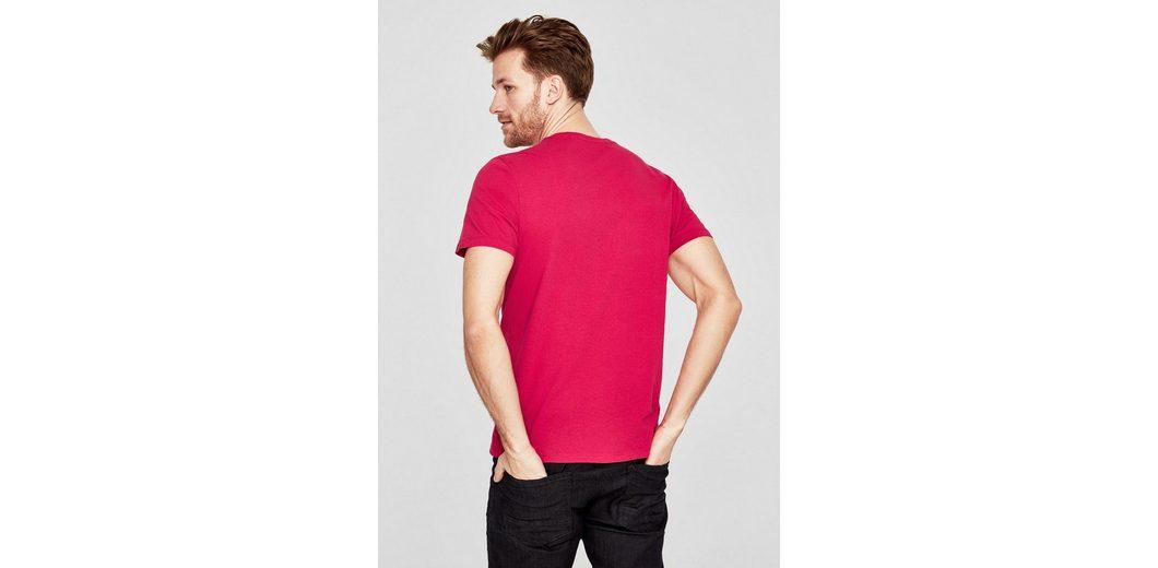 s.Oliver RED LABEL T-Shirt mit Wording-Print Für Schön Wahl Günstig Online Spielraum Offiziellen gfDiEY