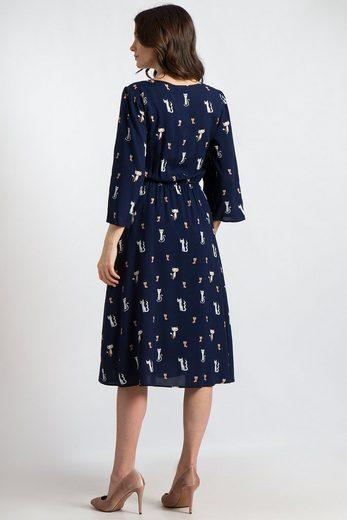 Finn Flare Kleid mit niedlichem Katzen-Print