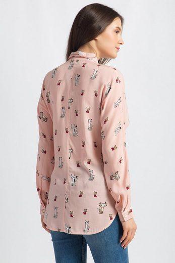 Finn Flare Bluse mit niedlichem Print