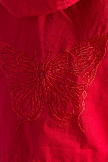Finn Flare Übergangsjacke mit Schmetterling-Stickerei