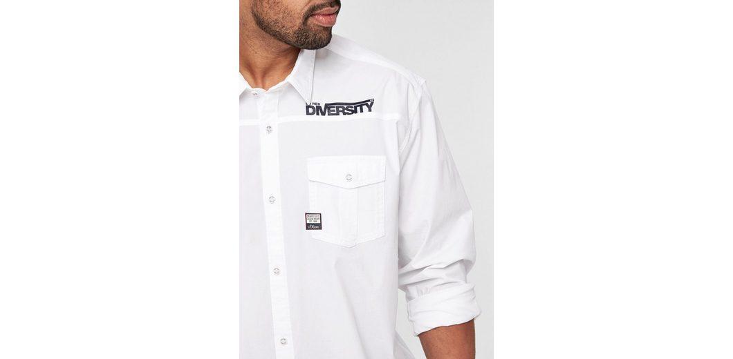 Verkauf Sehr Billig Billig Verkauf Veröffentlichungstermine s.Oliver RED LABEL Regular: Hemd mit Print-Detail m9Wmi8F7