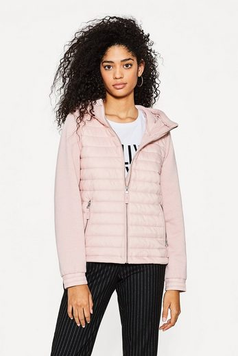 EDC BY ESPRIT Steppjacke aus Material-Mix