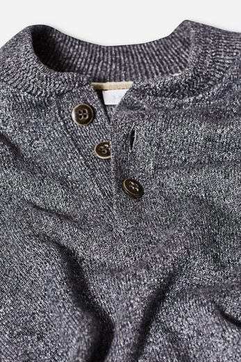 Esprit Henley-sweater Made Of Pure Cotton