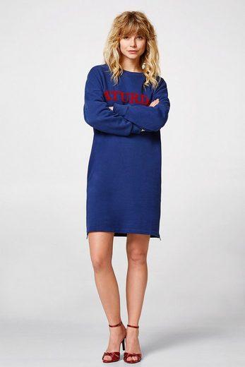 ESPRIT Sweat-Kleid mit Print,100% Baumwolle