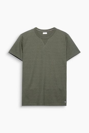 ESPRIT Jersey-Shirt mit Strukturstreifen